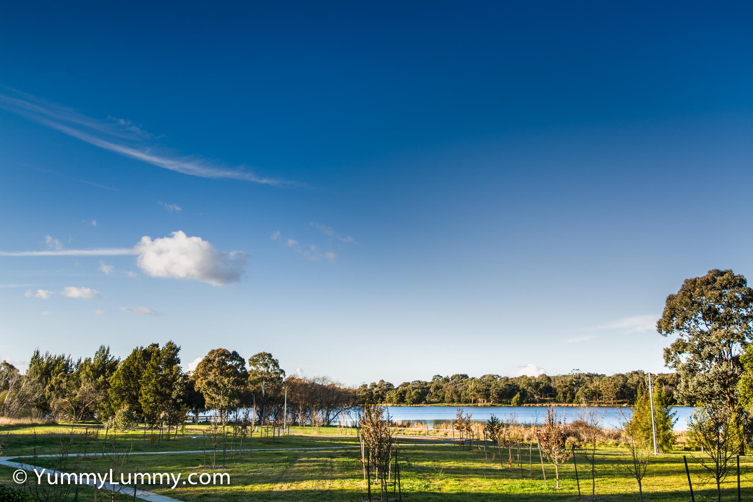 Lake Ginninderra at 3.30pm