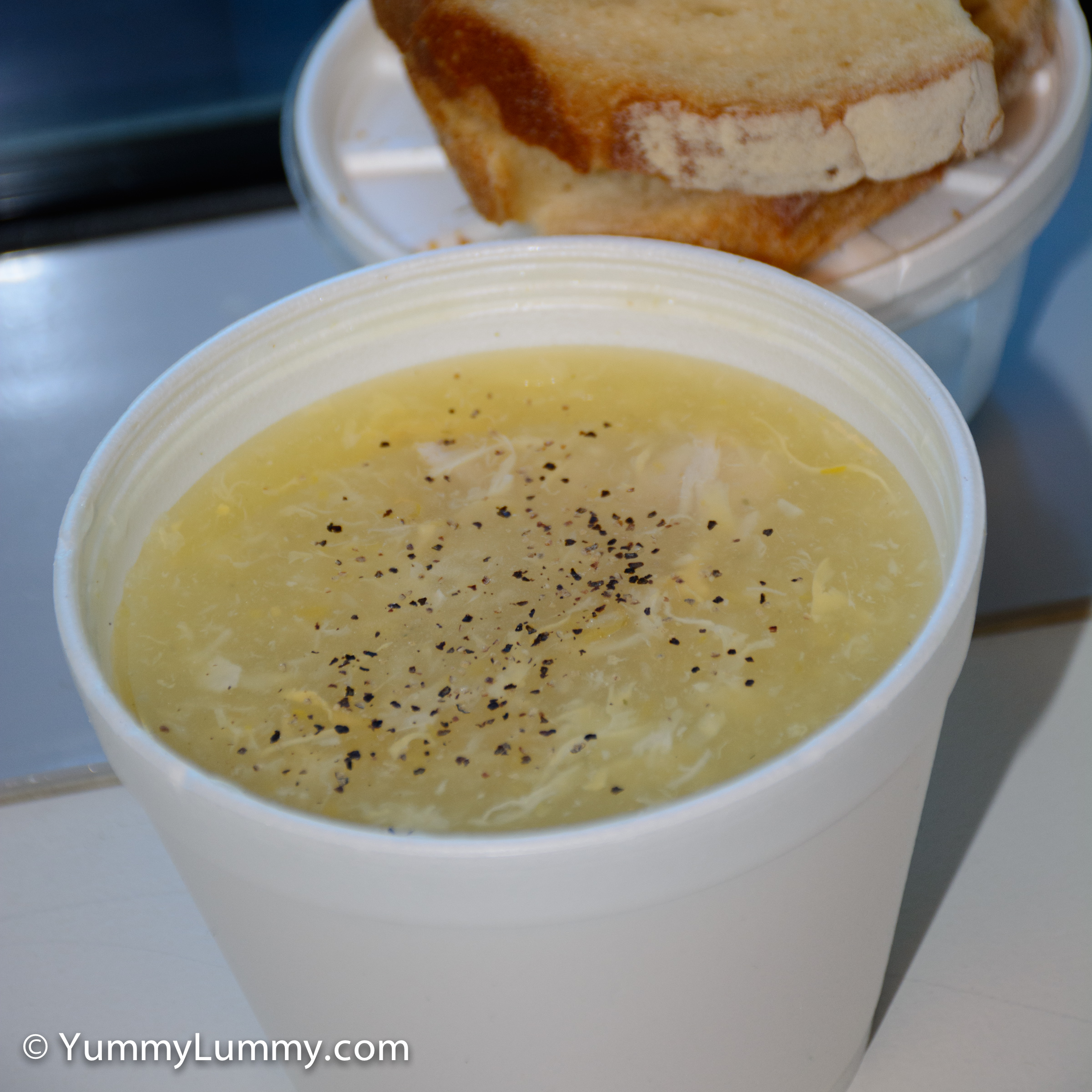 Happy hump day lunch is chicken and corn soup from Urban Bean Espresso Bar