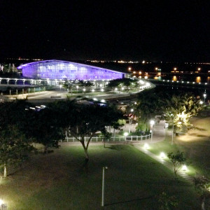 Darwin Entertainment Centre by night