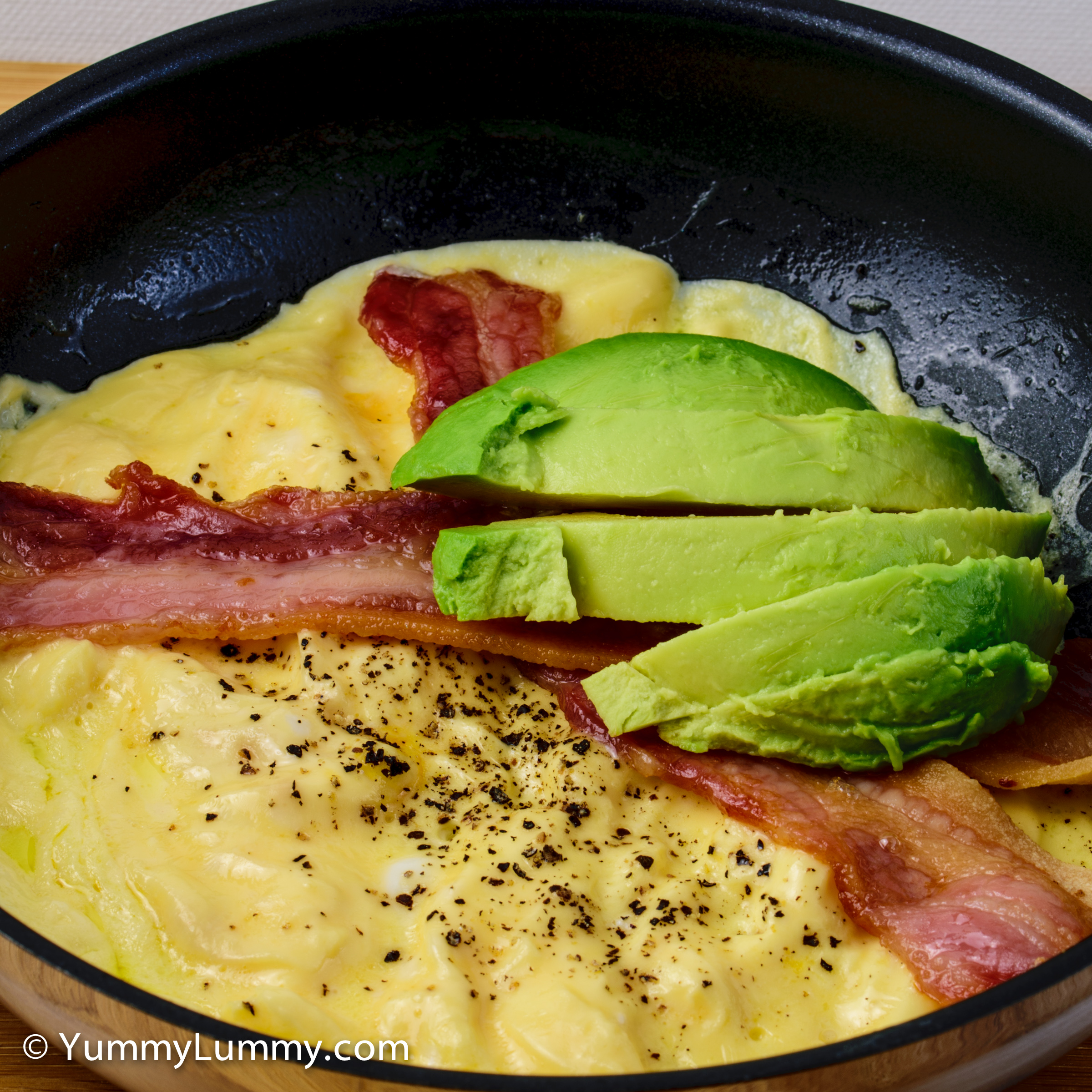 Happy hump day everyone. Pialligo bacon, scrambled eggs and avocado for breakfast.