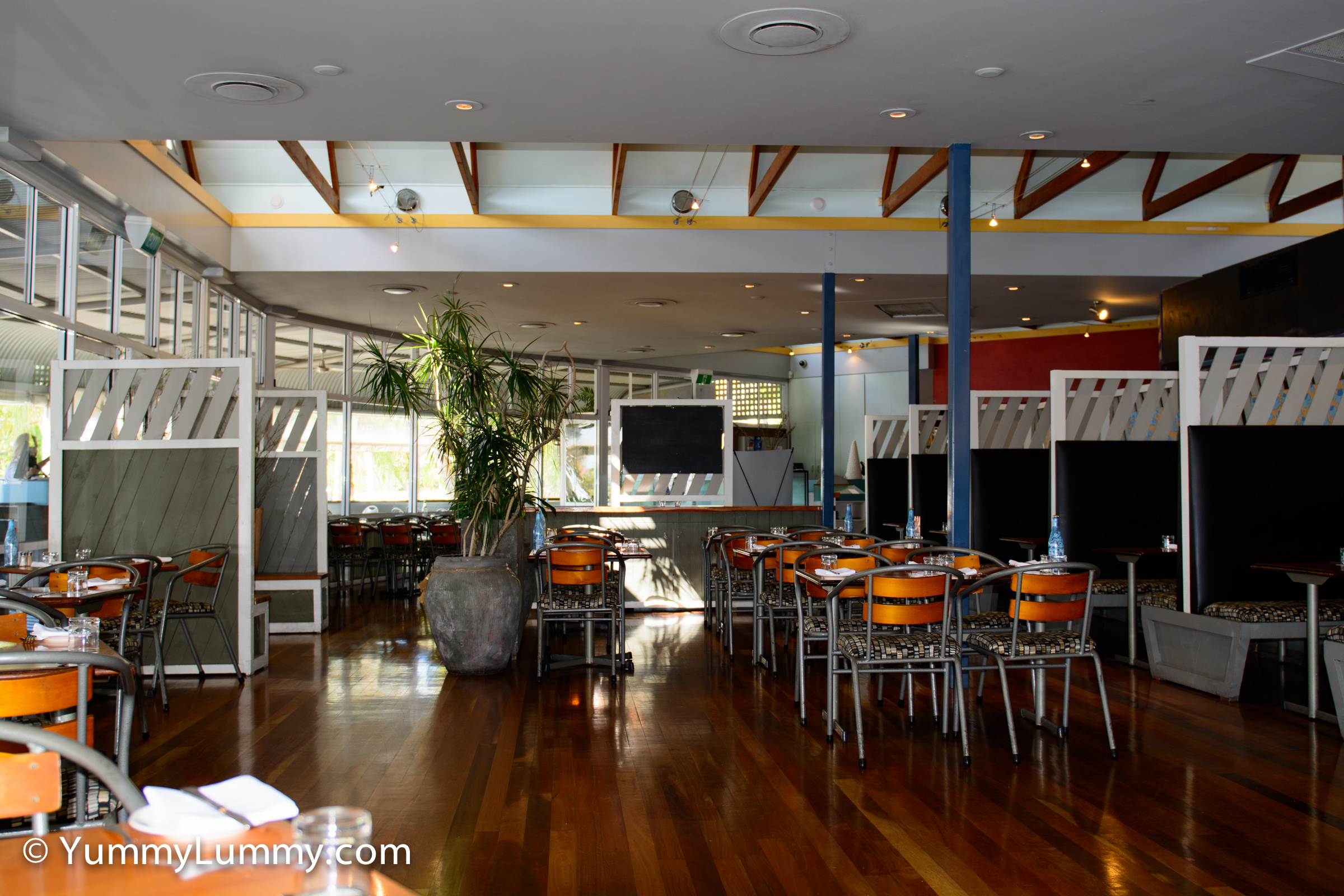 A photograph of the inside of Morgans Seafood Restaurant