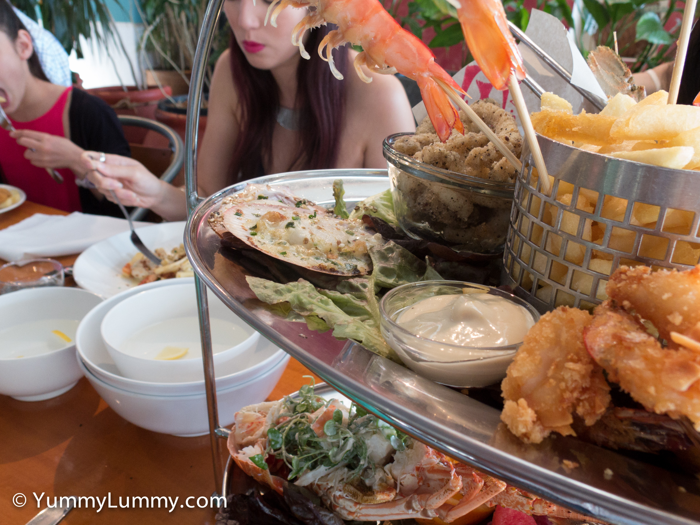 Grilled seafood on the Moreton Bay platter
