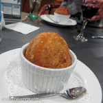 Fried ice cream and caramel topping