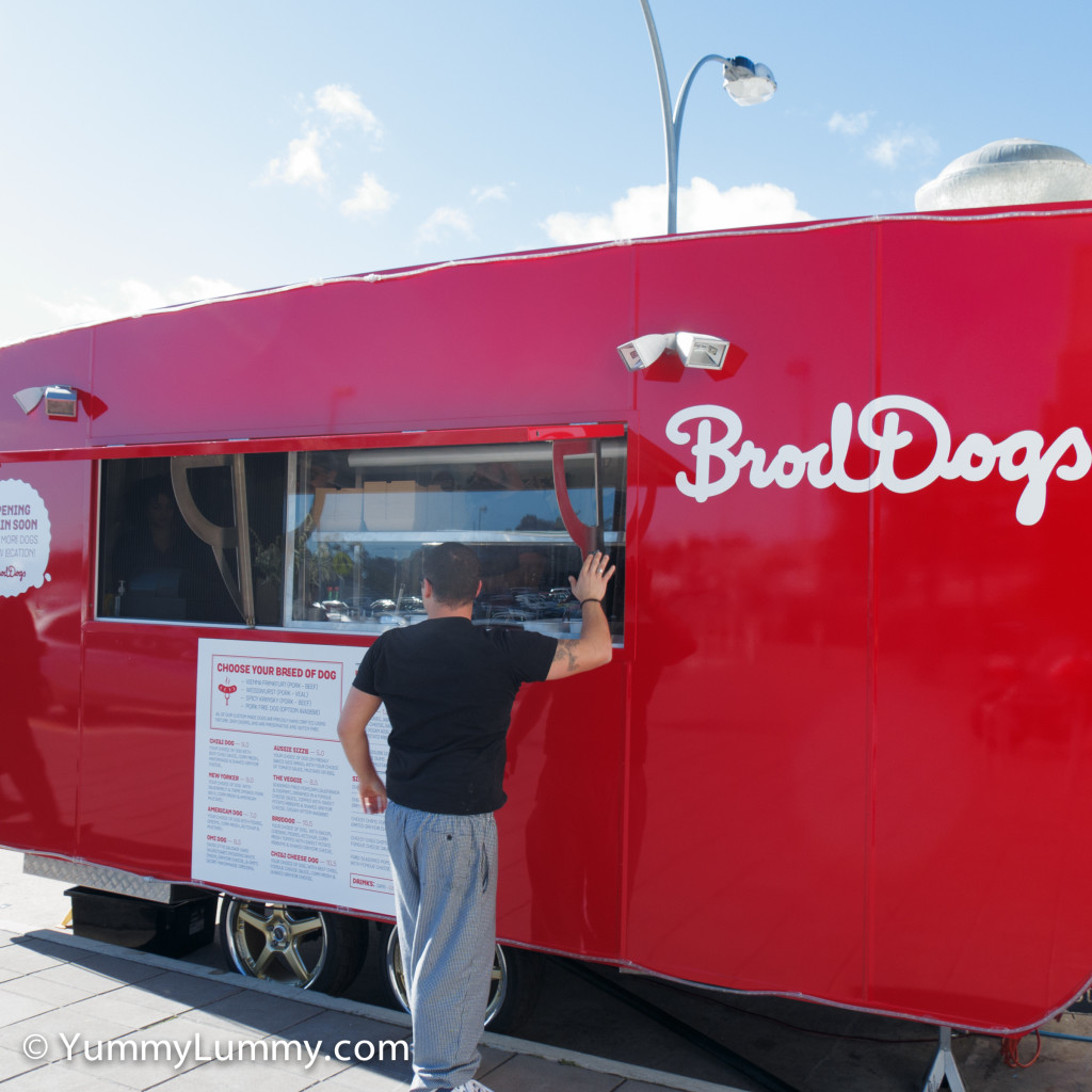 BrodDogs food truck as it opens