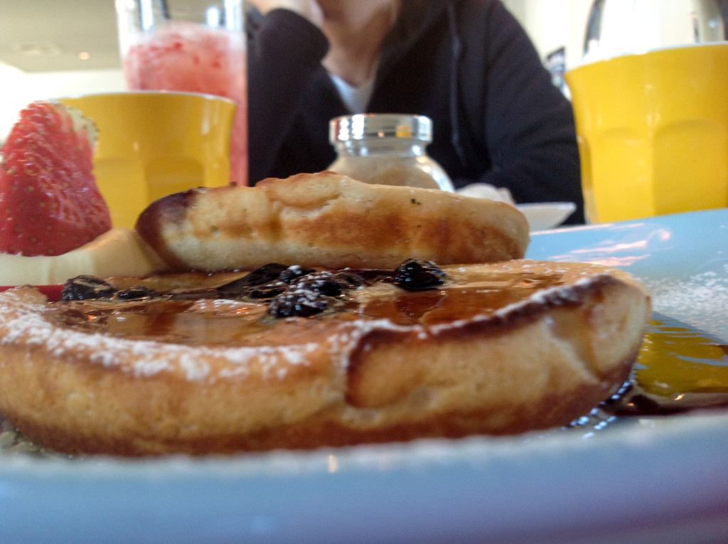 Max's blueberry ricotta hotcakes. Image courtesy of Max.