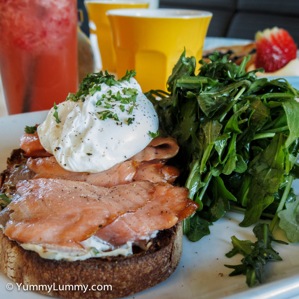 Bron's hot smoked salmon bruschetta. This image has been very popular on Instagram and Twitter today :-)
