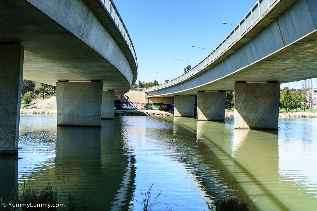 A bridge over Lake Ginninderra