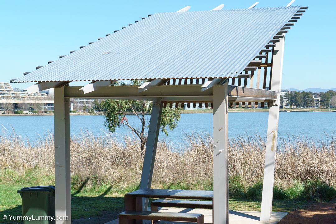 Picnic area on Lake Ginninderra