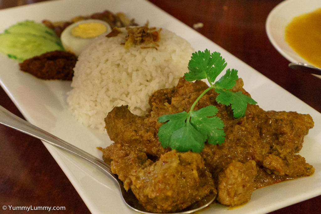 Nasi Lemak Lamb Rendang at Malaysian Chapter. SONY ILCE-7S with E 35mm F1.8 OSS at 35mm and f/5.6, 1/40sec, ISO 6400