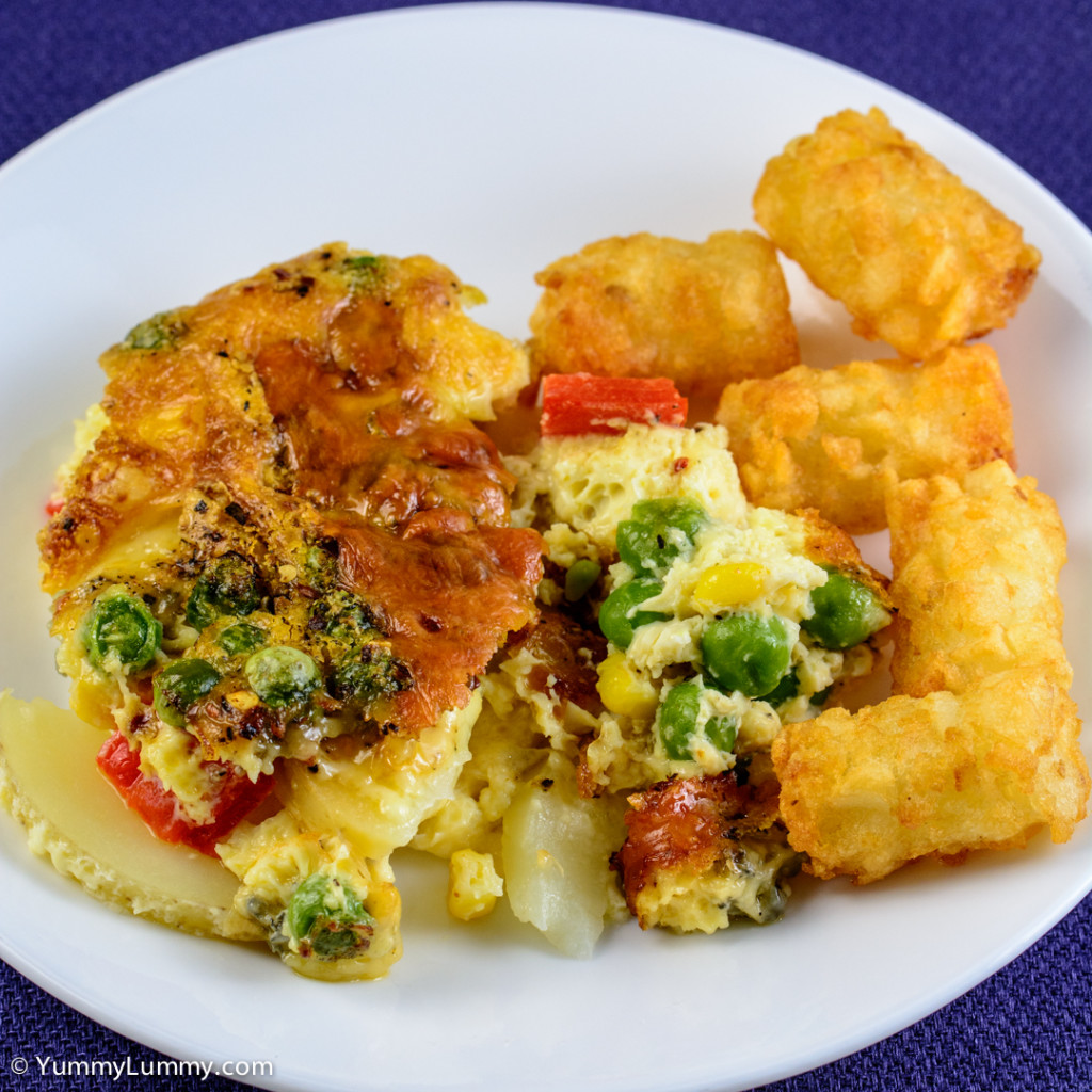 Happy hump day dinner. Frittata and potato gems. NIKON D7100 with 90.0 mm f/2.8 at 90mm and f/8, 1/125sec, ISO 400