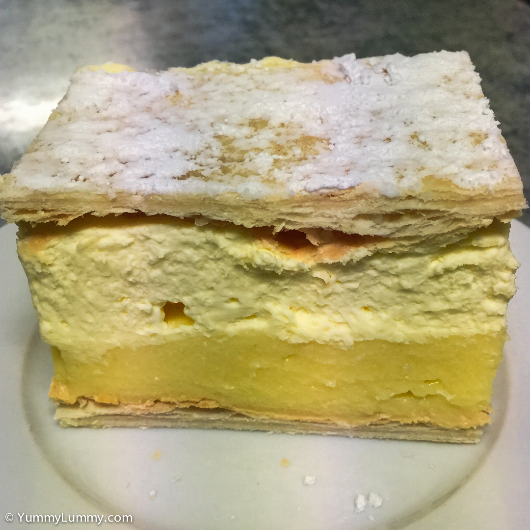 Vanilla slice from the central Holbrook bakery Apple iPhone 6 with iPhone 6 Plus back camera 4.15mm f/2.2 at 4mm and f/2.2, 1/30sec, ISO 40