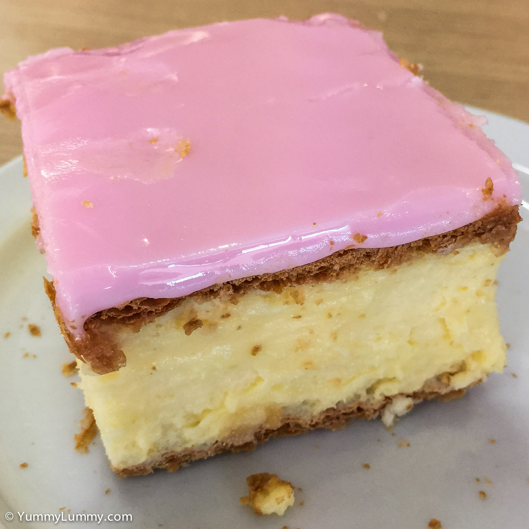 Vanilla slice from Henri's bakery in Wodonga Apple iPhone 6 with iPhone 6 Plus back camera 4.15mm f/2.2 at 4mm and f/2.2, 1/30sec, ISO 50