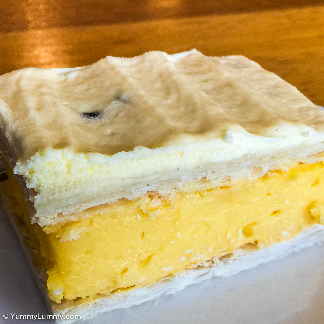 Passionfruit vanilla slice from Hides Bakery in Benalla Apple iPhone 6 with iPhone 6 Plus back camera 4.15mm f/2.2 at 4mm and f/2.2, 1/30sec, ISO 40