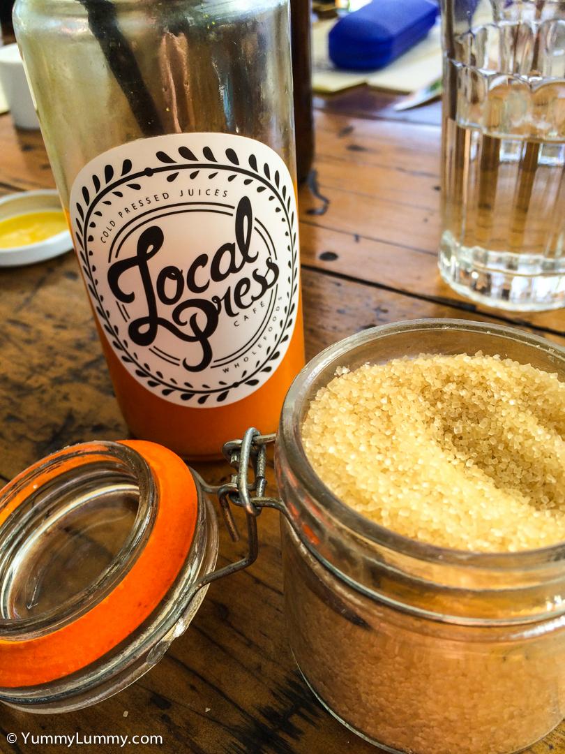 Raw sugar at Local Press on the Kingston Foreshore