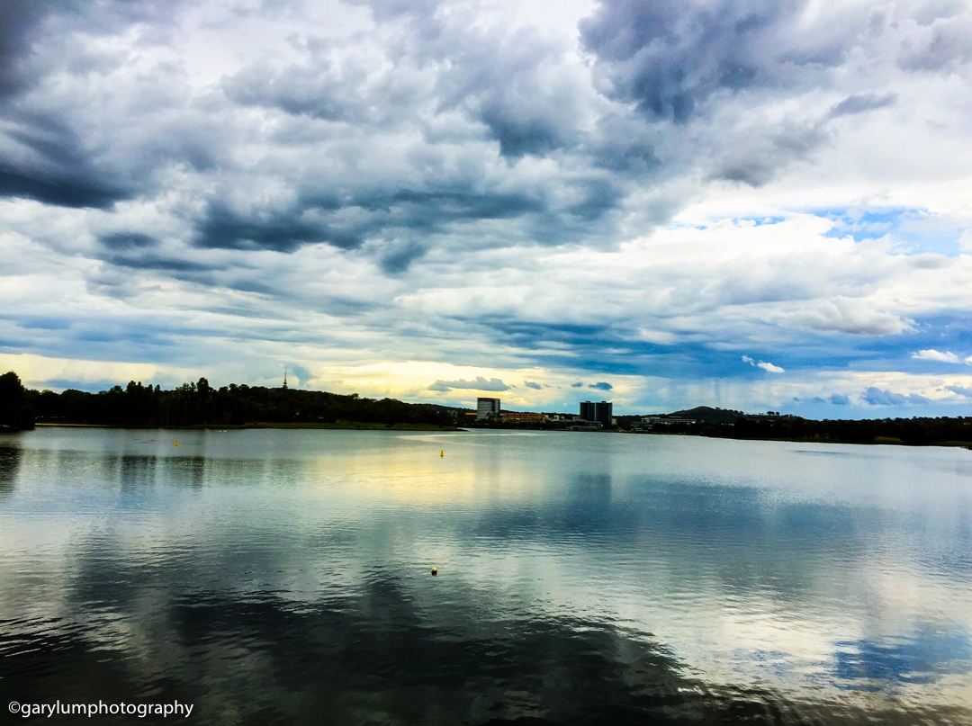 Soon after this it poured down and I was soaked through while walking around Lake Ginninderra Apple + Pro HDR iPhone with iPhone 6 Plus back camera 4.15mm f/2.2 at 4mm and f/2.2, 1/3200sec, ISO 32