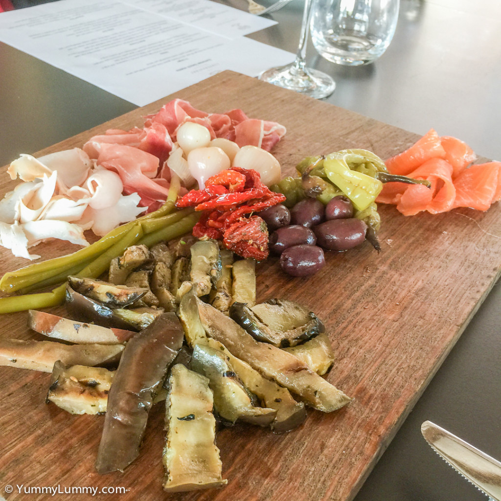 Antipasto plank at the Conservatory Restaurant at the National Arboretum