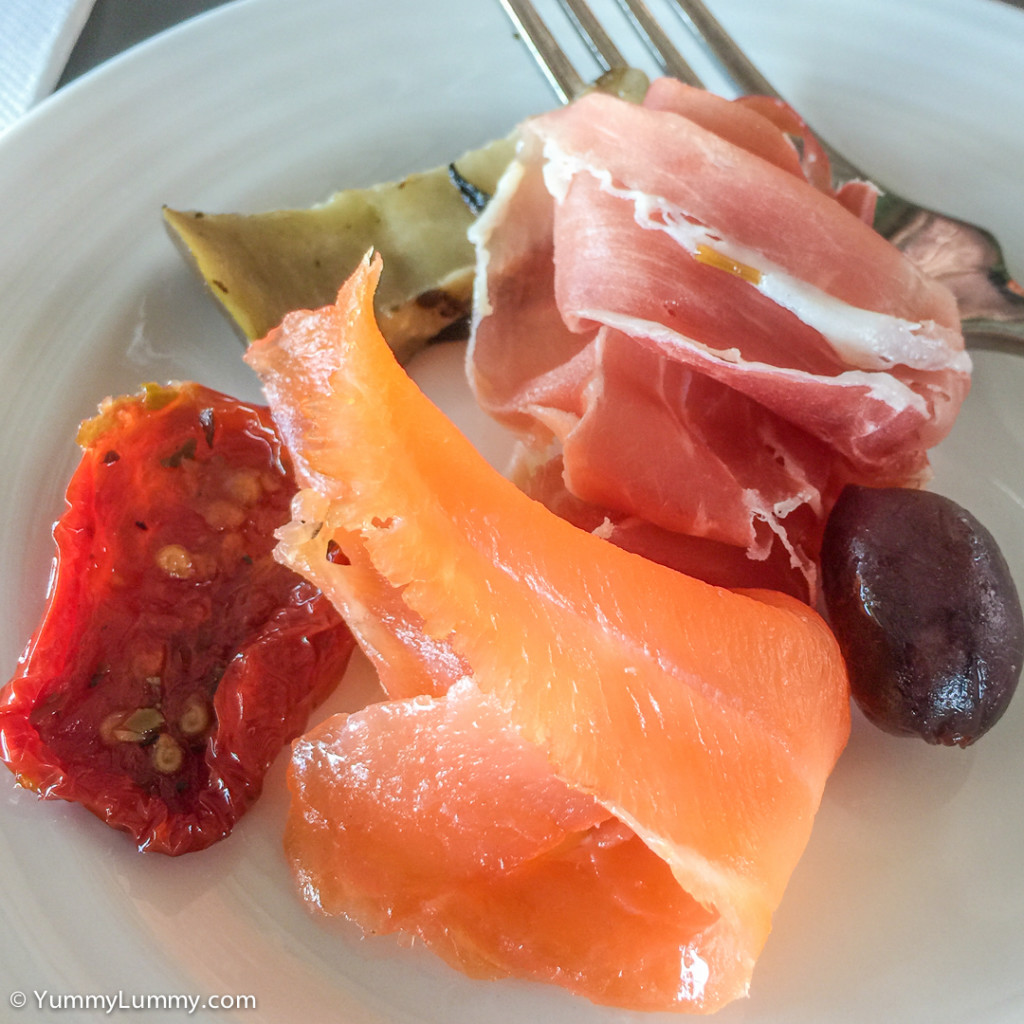 Antipasto plate at the Conservatory Restaurant at the National Arboretum