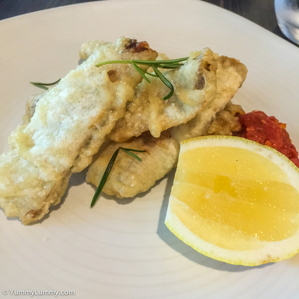 Grilled sardines at Chifley's Bar and Grill in Hotel Kurrajong