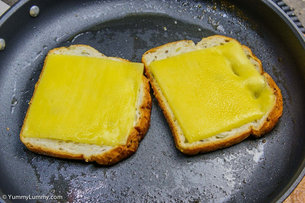 Frying bread with Bega cheese