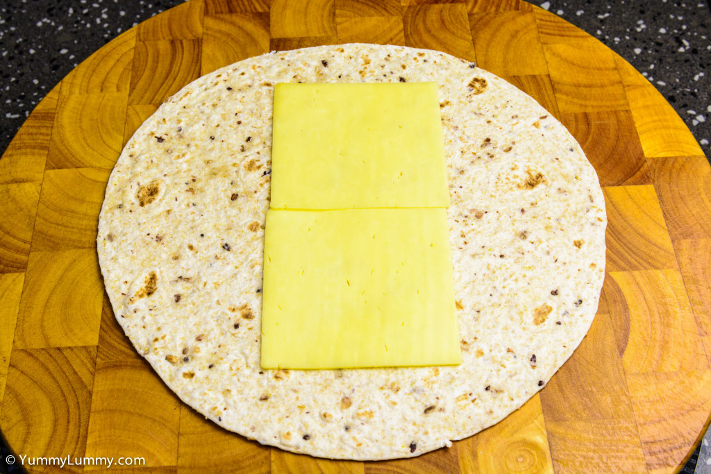 Helga's flatbread wrap with cheese