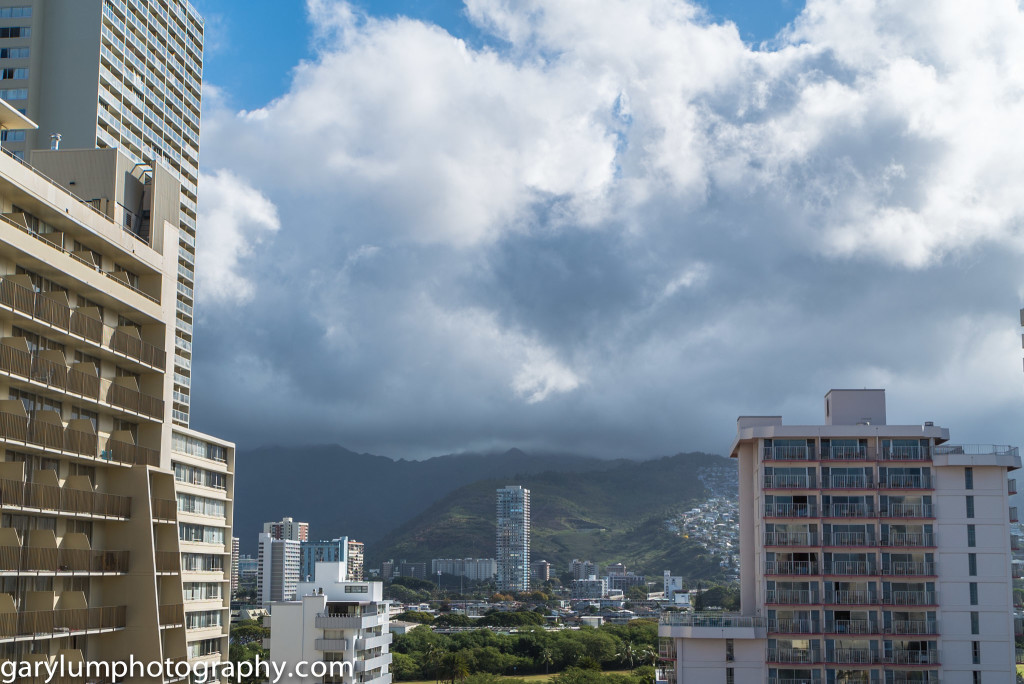 Morning view from Aqua Waikiki Wave hotel on Friday morning.