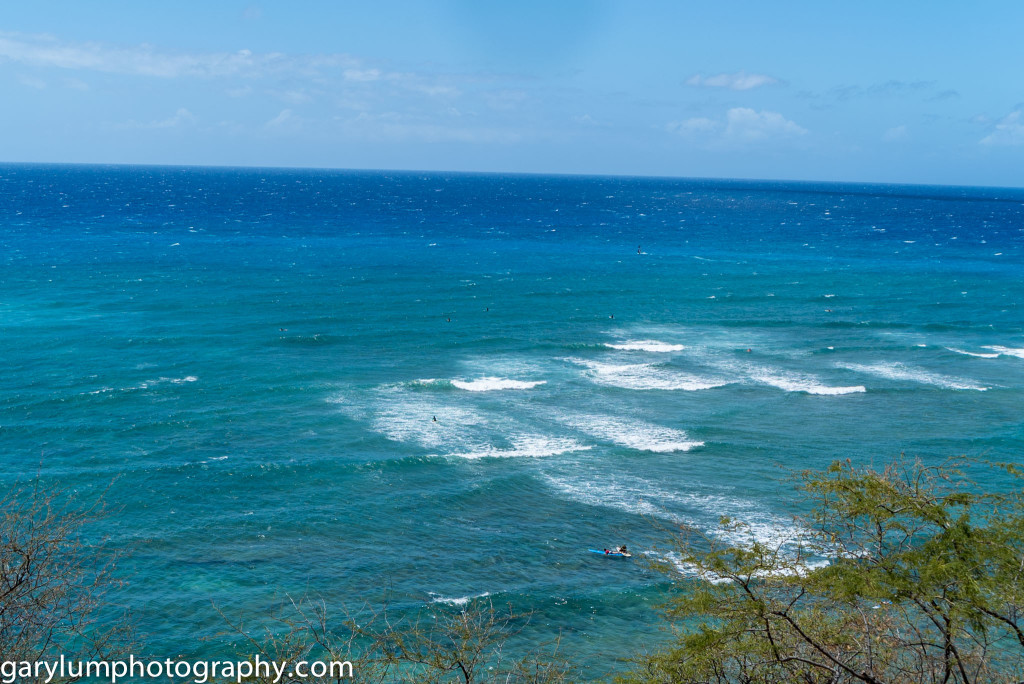 The view from Diamond Head beach park