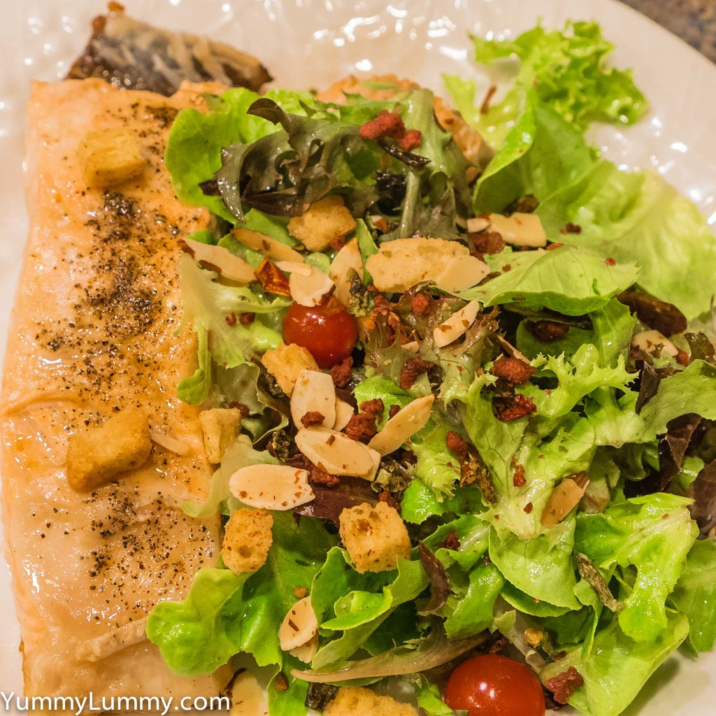 Salmon and Salad Saturday in Turtle Bay Oahu, HI