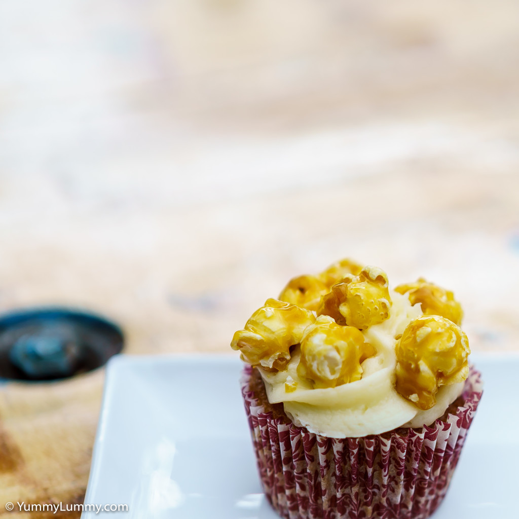 Caramel popcorn cupcake from Heather's House of Cake