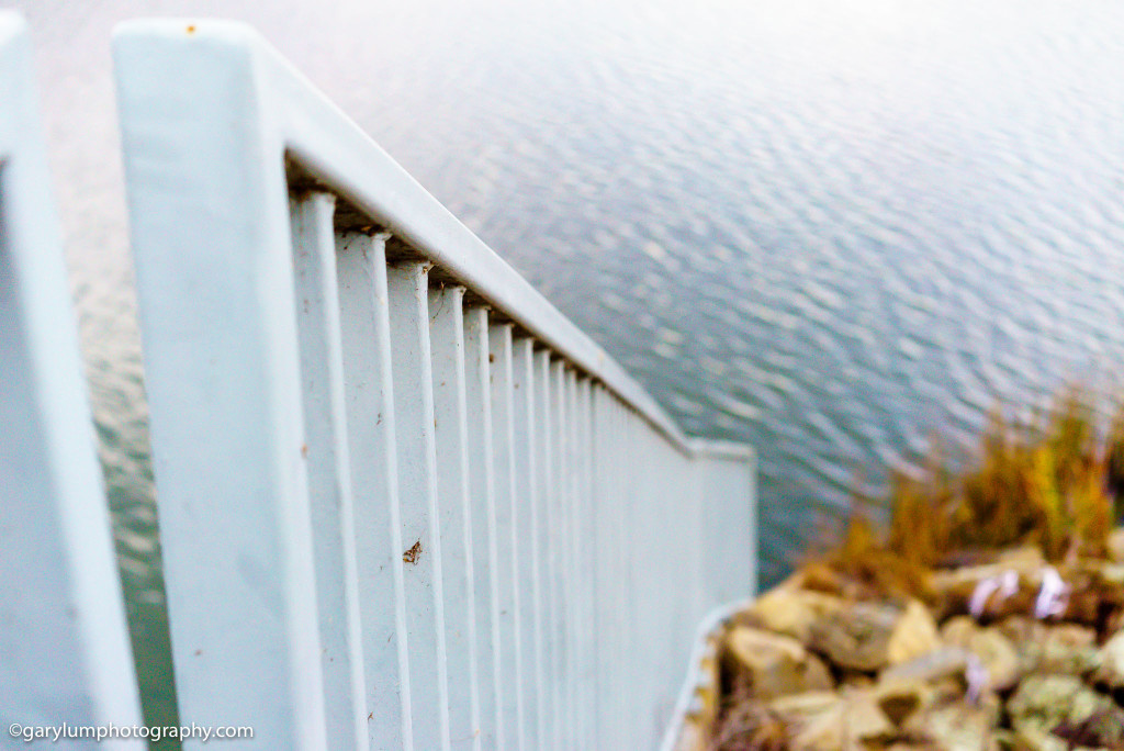Railing on Lake Ginninderra