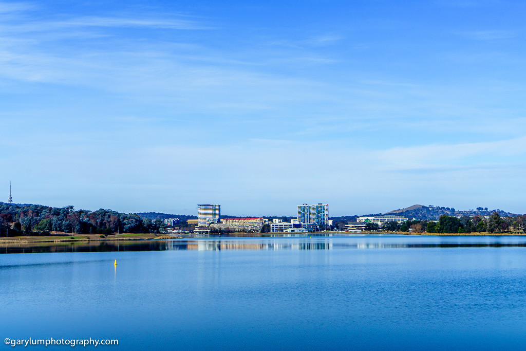 A high dynamic range photograph of Lake Ginninderra