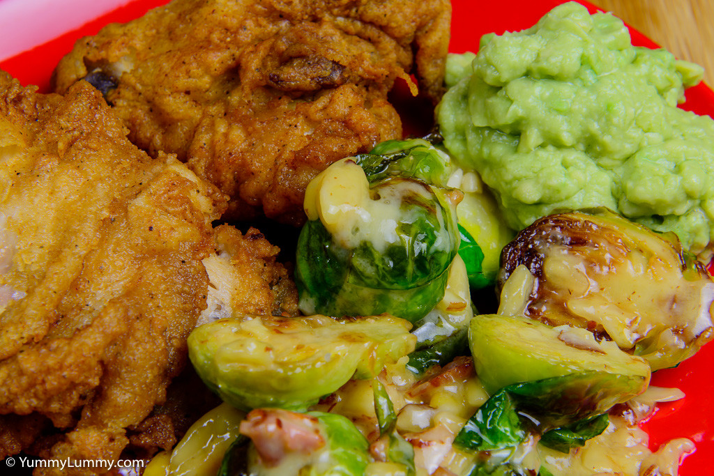 Making KFC better with Brussels sprouts and avocado