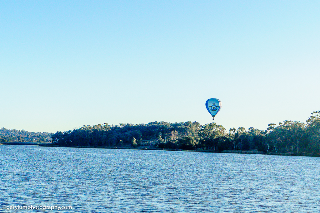 RAAF baloon on Lake Ginninderra