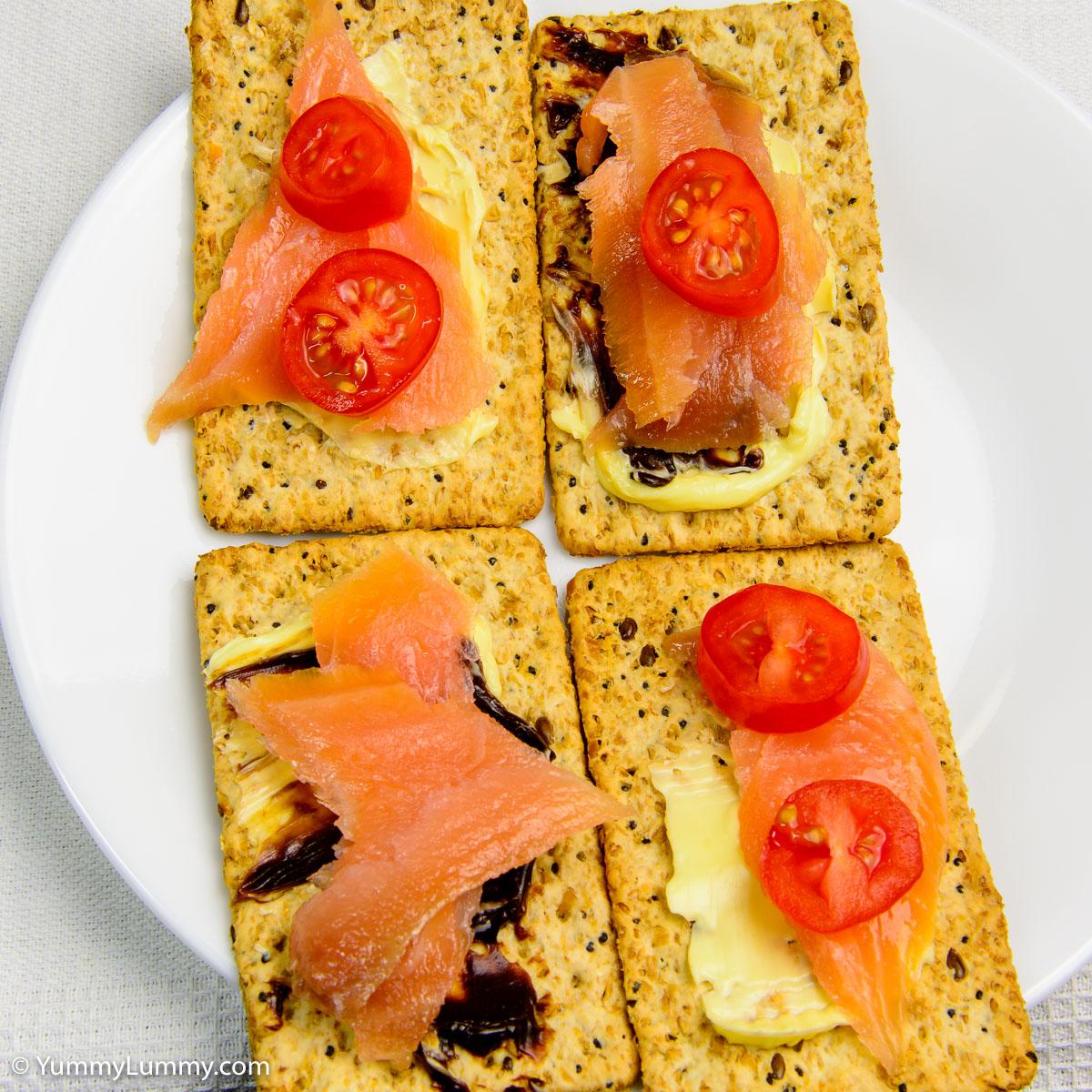 Humpday breakfast. Salmon on VitaWeat.