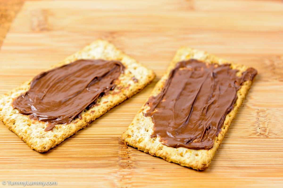 Saturday afternoon snack. Nutella on VitaWeat biscuits.