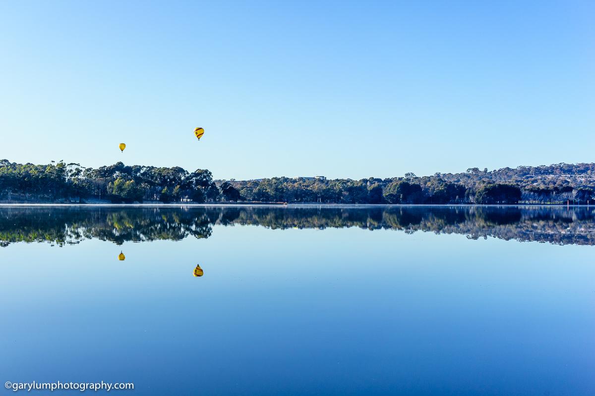 Balloons on Lake Ginninderra