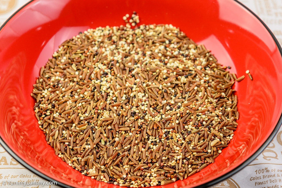 Organic red rice and quinoa