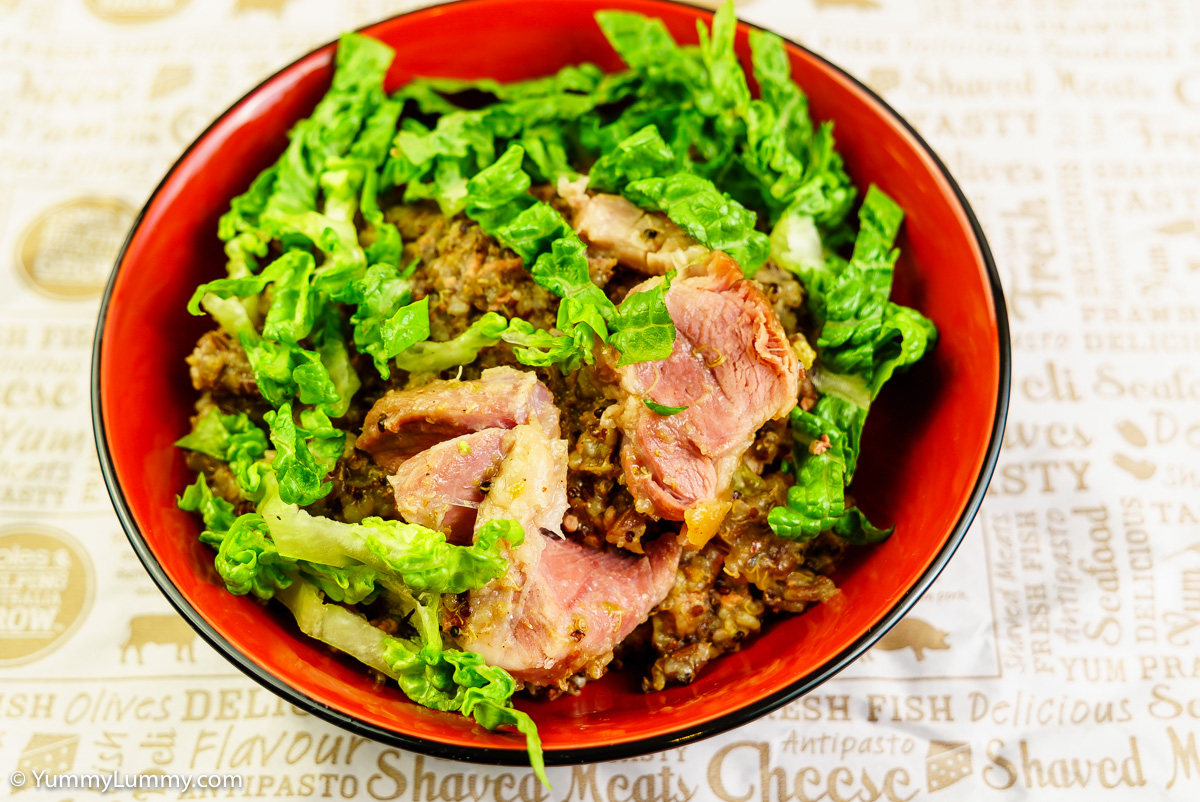 Saturday dinner. Pork congee.
