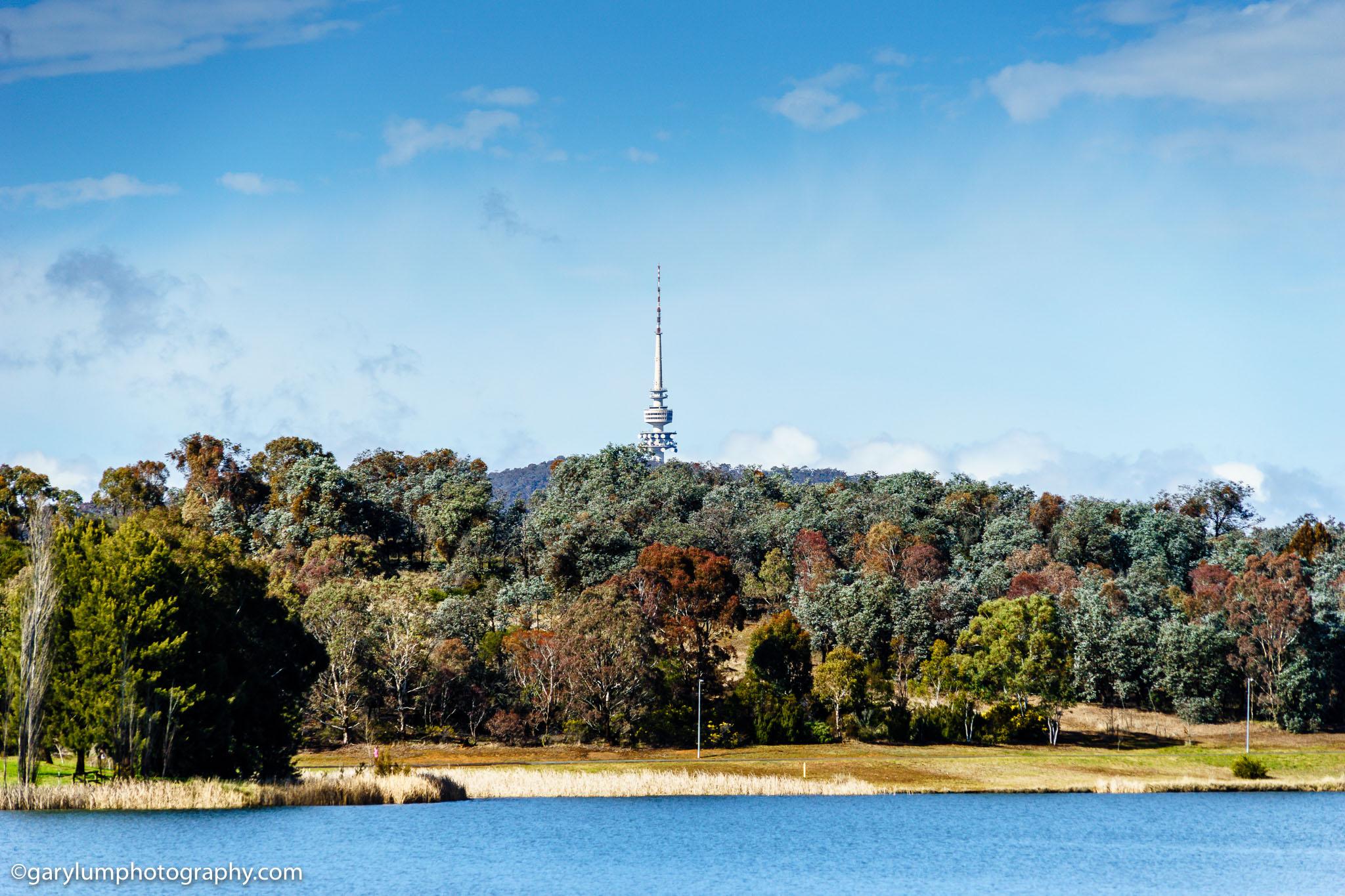 Lake Ginninderra and Telstra Tower