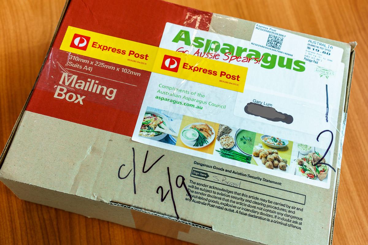 Australian Asparagus Council asparagus parcel.