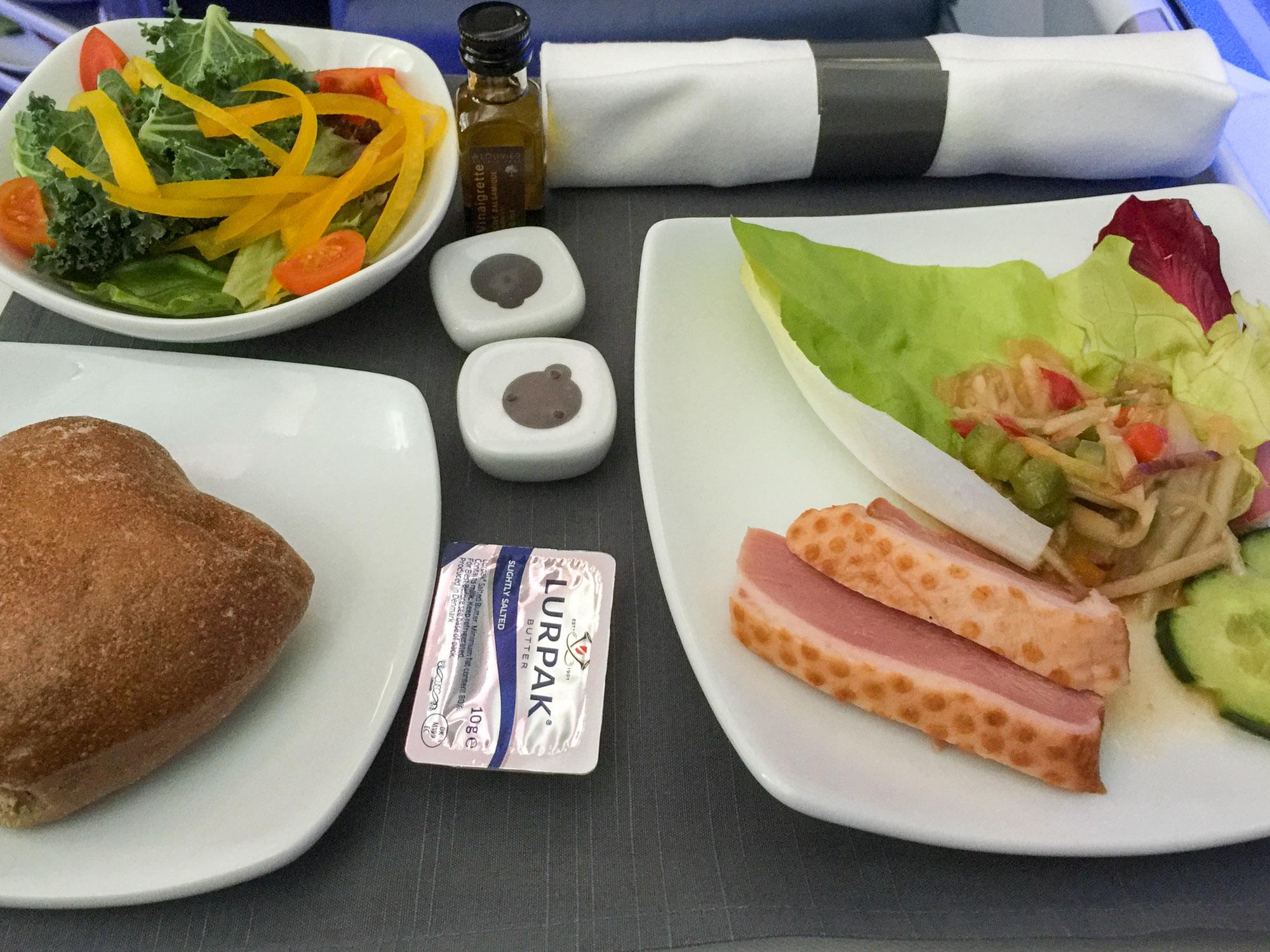 Smoked duck endive salad on AC34