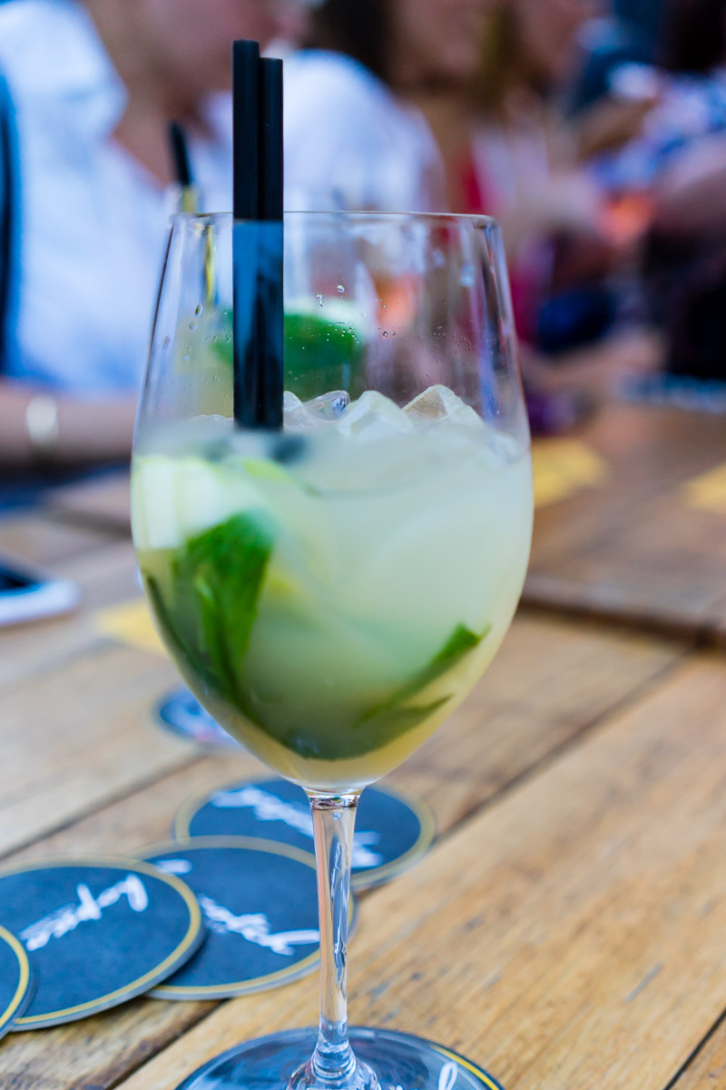 This is a photograph of an nonalcoholic drink at Hopscotch for Eat Drink Blog 6