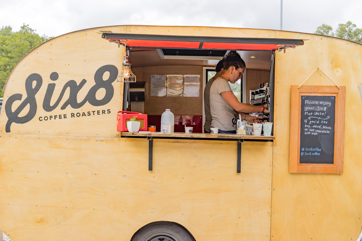 This is a photograph of the Six8 Coffee Roasters caravan at Eat Drink Blog 6