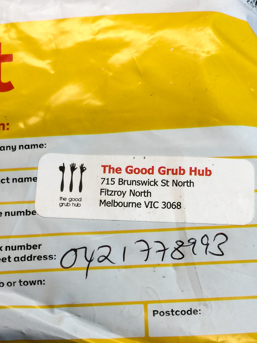 The Good Grub Hub Wasabi Sesame seed package