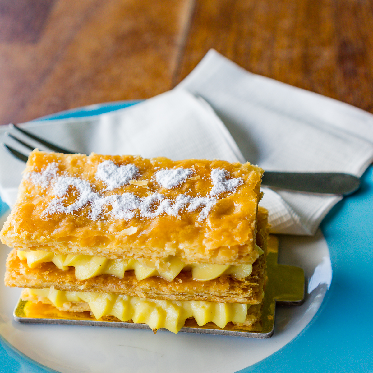 This is a photograph of Dream Cuisine Vanilla Slice