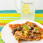 Pizza and iced water