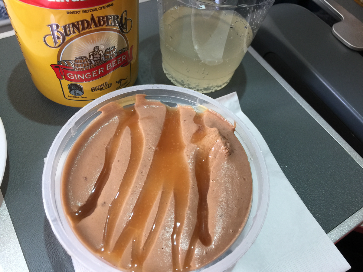 Chocolate mousse on QF97