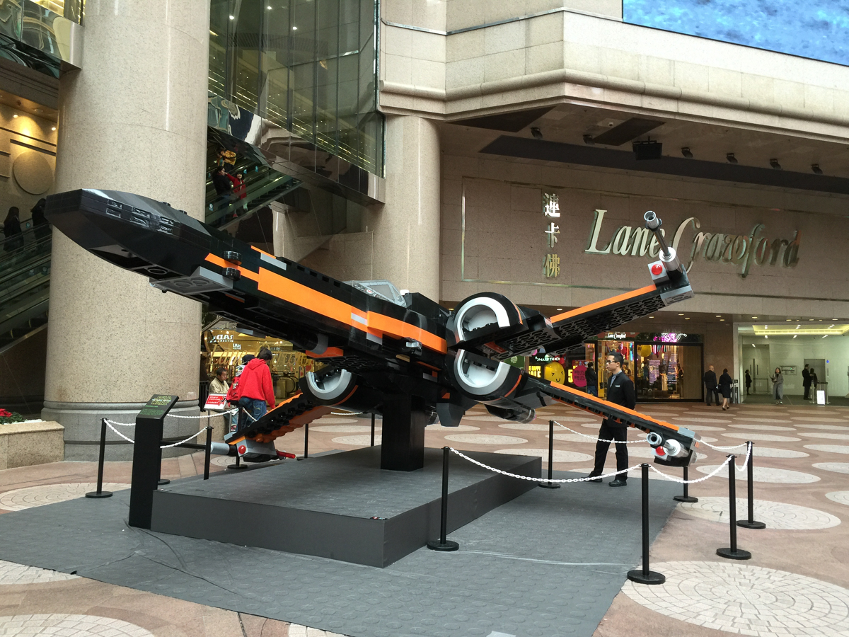 X wing fighter Times Square Hong Kong