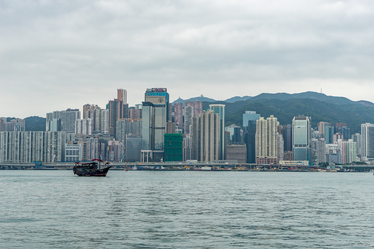 Hong Kong Island waterfront from Tsim Sha Tsui.