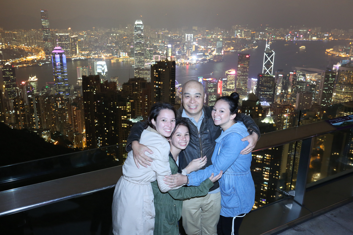 Hugging on Victoria Peak