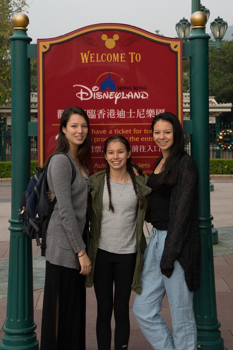 The girls at Welcome to Disneyland